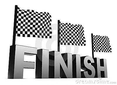 Racing Flags and Finish