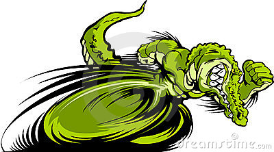 Racing Gator or Croc Mascot Graphic Image