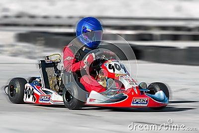 Racing Go Kart Editorial Stock Photo