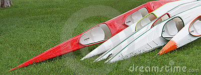 Racing kayaks