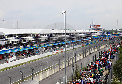 Racing line before beginning Editorial Image