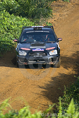 Racing rally car Editorial Photography
