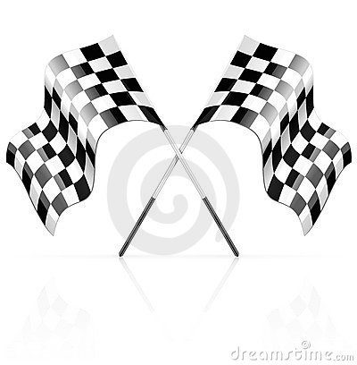 Racing sport competition start and finish symbol