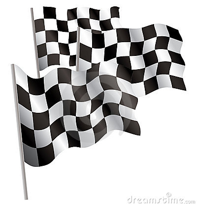 Racing-sport finish 3d flag.