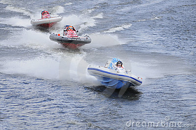 Racing Of Sports Motorboats Stock Image - Image: 5665931