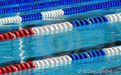 Racing Swim Lanes Stock Images Image 6136244