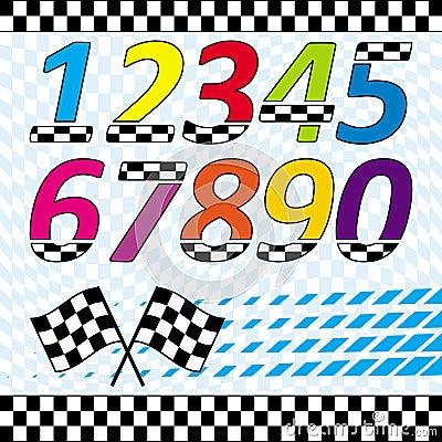 Racing theme design elements set