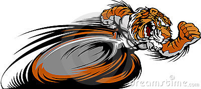 Racing Tiger Mascot Graphic Image