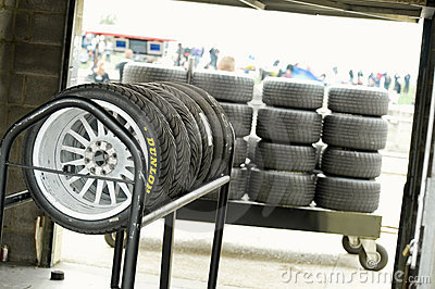 Racing tires Editorial Stock Photo