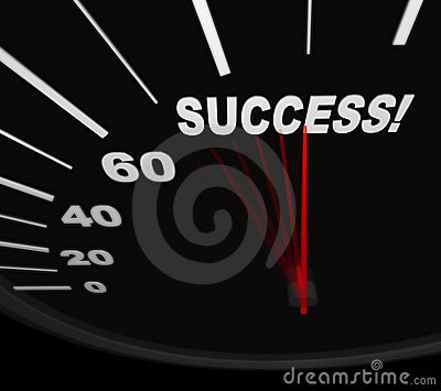 Racing Toward Success - Speedometer