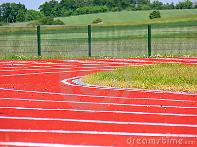 Racing track - closeup