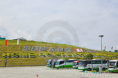 Racing track of Formula 1, GP Malaysia, Sepang Editorial Stock Image