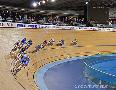 Racing at the Velodrome Editorial Photography