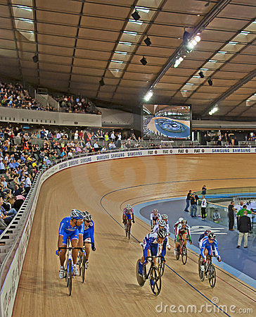 Racing at the Velodrome Editorial Image