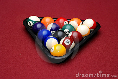 Rack of billiard balls