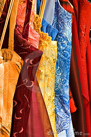 Rack of couture dresses