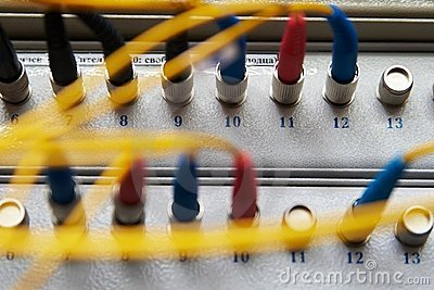 Rack fiber-optic connections