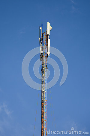 Rack with GSM antennas