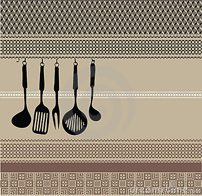 Free Stock Photography Rack Of Kitchen Utensils On Ancient Background