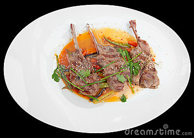 Rack of lamb, isolated