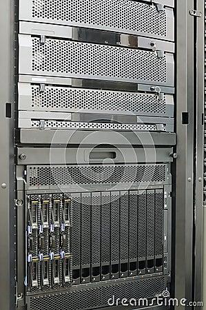 Rack mounted blade servers