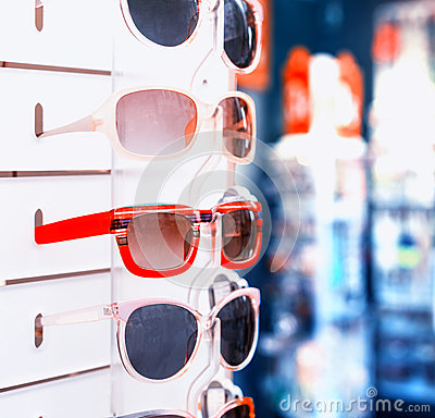 Rack with sunglasses