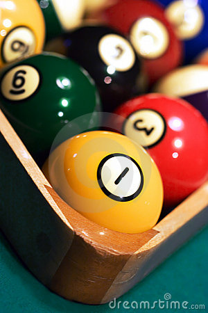 Free Racked Billiard Balls Close Up Royalty Free Stock Photos - 2528438