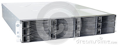 Rackmount disk storage isolated
