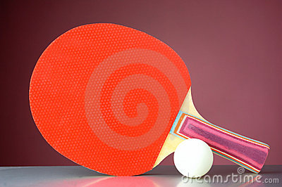 Racquet and tennis ball