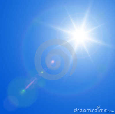 Racy obiektywu słońce