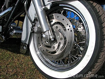 Rad eines amerikanischen motobike