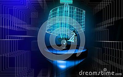 Radar antenna sending signals