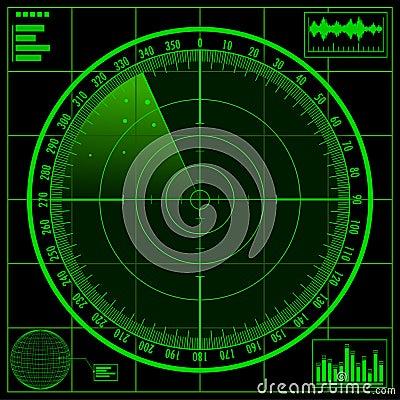 Free Radar Screen Stock Photography - 18540152