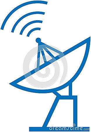 Radar translation – Vector illustration