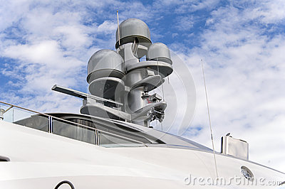 Radar on a yacht