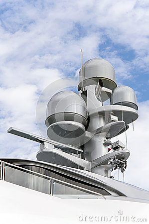 Radar on a yacht