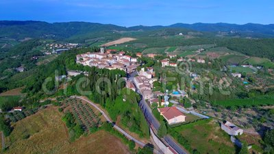 Radda dans Chianti Toscane Italie banque de vidéos