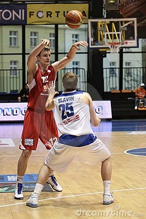 Radek Necas - CEZ Basketball Nymburk Editorial Stock Photo