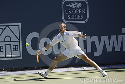 Radek Stepanek at the Los Angeles Tennis Open Editorial Photo