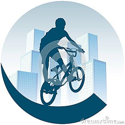 Radfahren in Stadt