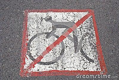 Radfahrer haben nicht eine Straße