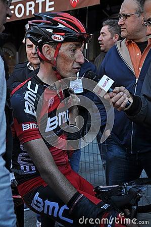 Radfahrer Marco Pinotti Redaktionelles Stockfotografie