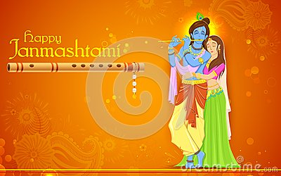 Radha and Lord Krishna on Janmashtami