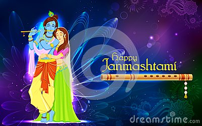 Radha and Lord Krishna on Janmashtami