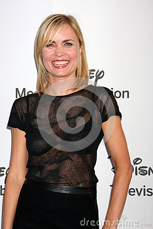 Radha Mitchell arrives at the ABC / Disney International Upfronts Editorial Photography