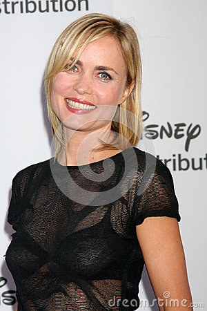 Radha Mitchell arrives at the ABC / Disney International Upfronts Editorial Stock Image