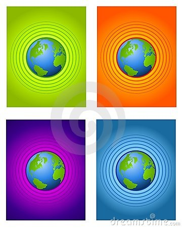 Radial Center Earth Backgrounds