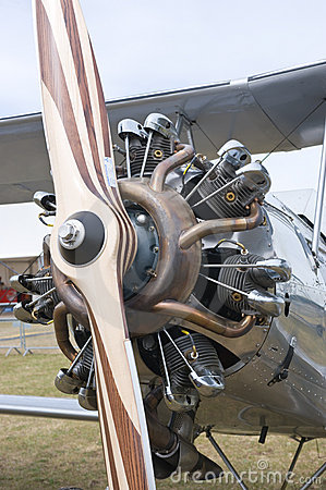 Radial engine with propeller