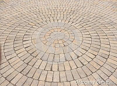 Radial Paving Stone Pattern Stock Photo Image 50155213