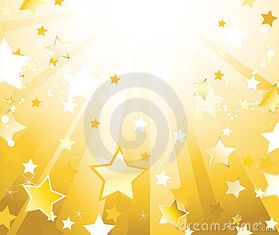 Radiant background with stars